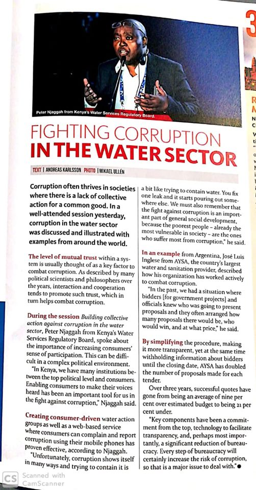 Fighting Corruption in the Water Sector